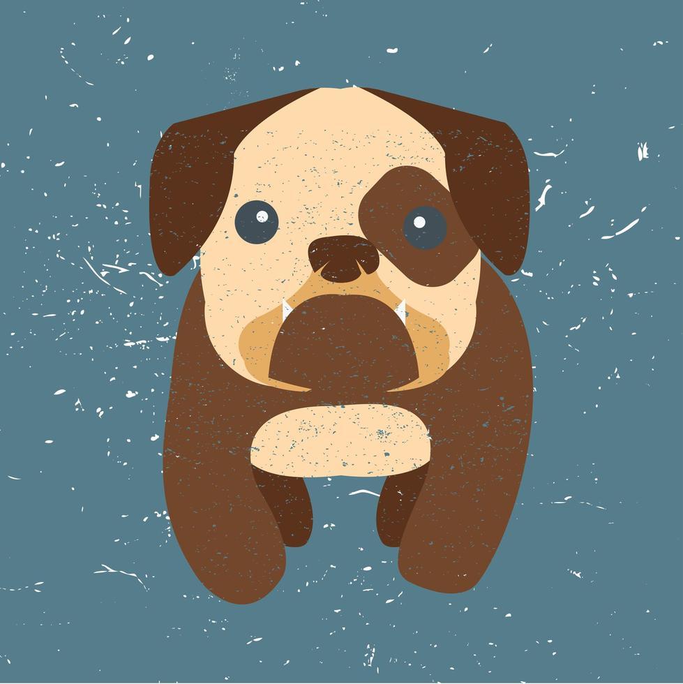 simpatico cartone animato bulldog vettore