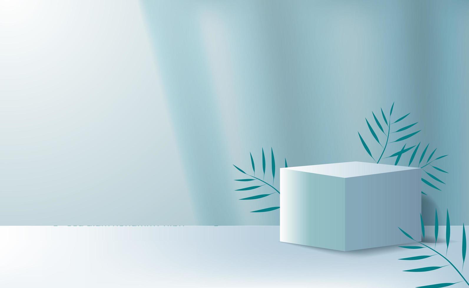 Minimalismo del cubo 3d per la pubblicità di posizionamento del prodotto vettore