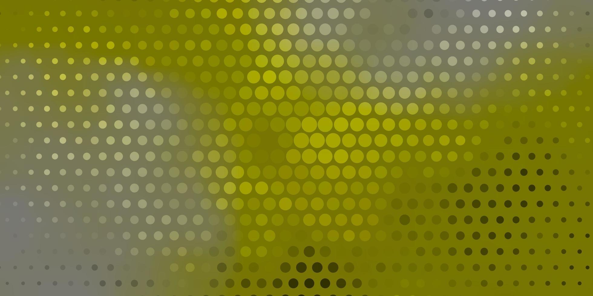 layout verde con forme circolari. vettore