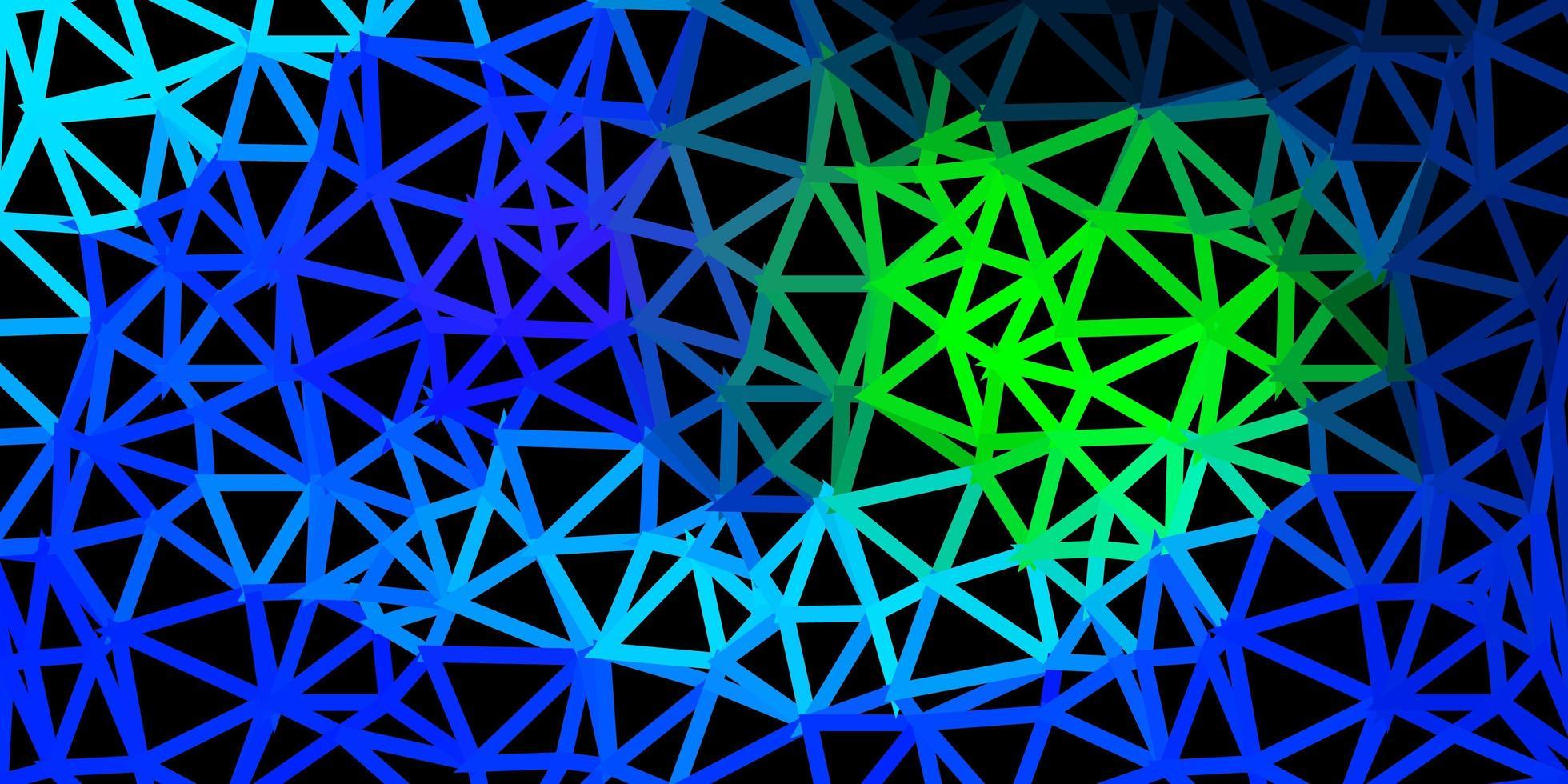 mosaico a triangolo azzurro e verde. vettore