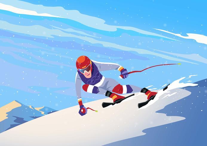 Sport olimpici invernali vettore