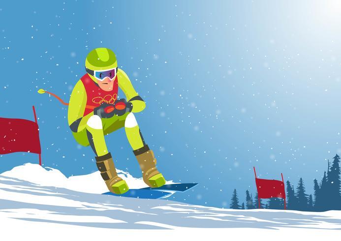 Olimpiadi invernali vettore