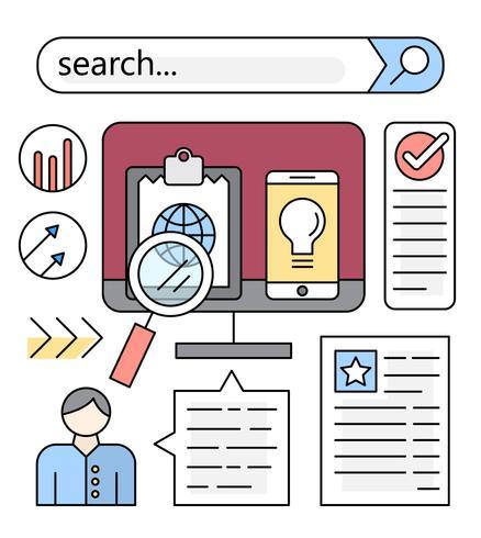 Browser di ricerca lineare vettore