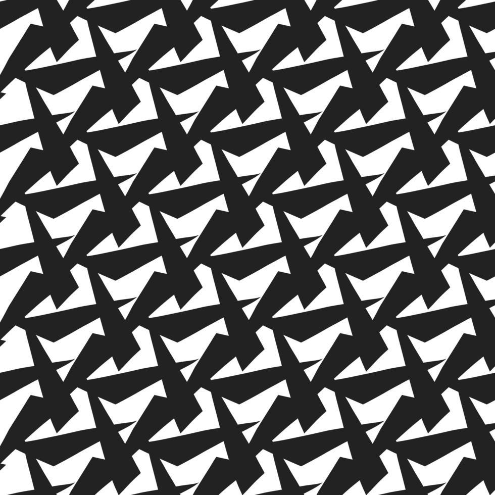 modello di forma astratta in bianco e nero disegnato a mano vettore