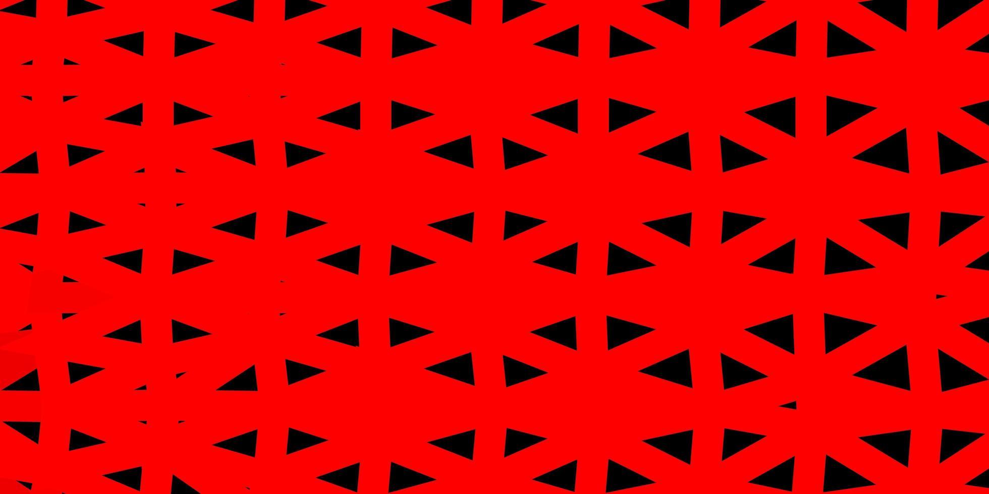 disegno a mosaico triangolo rosso chiaro. vettore