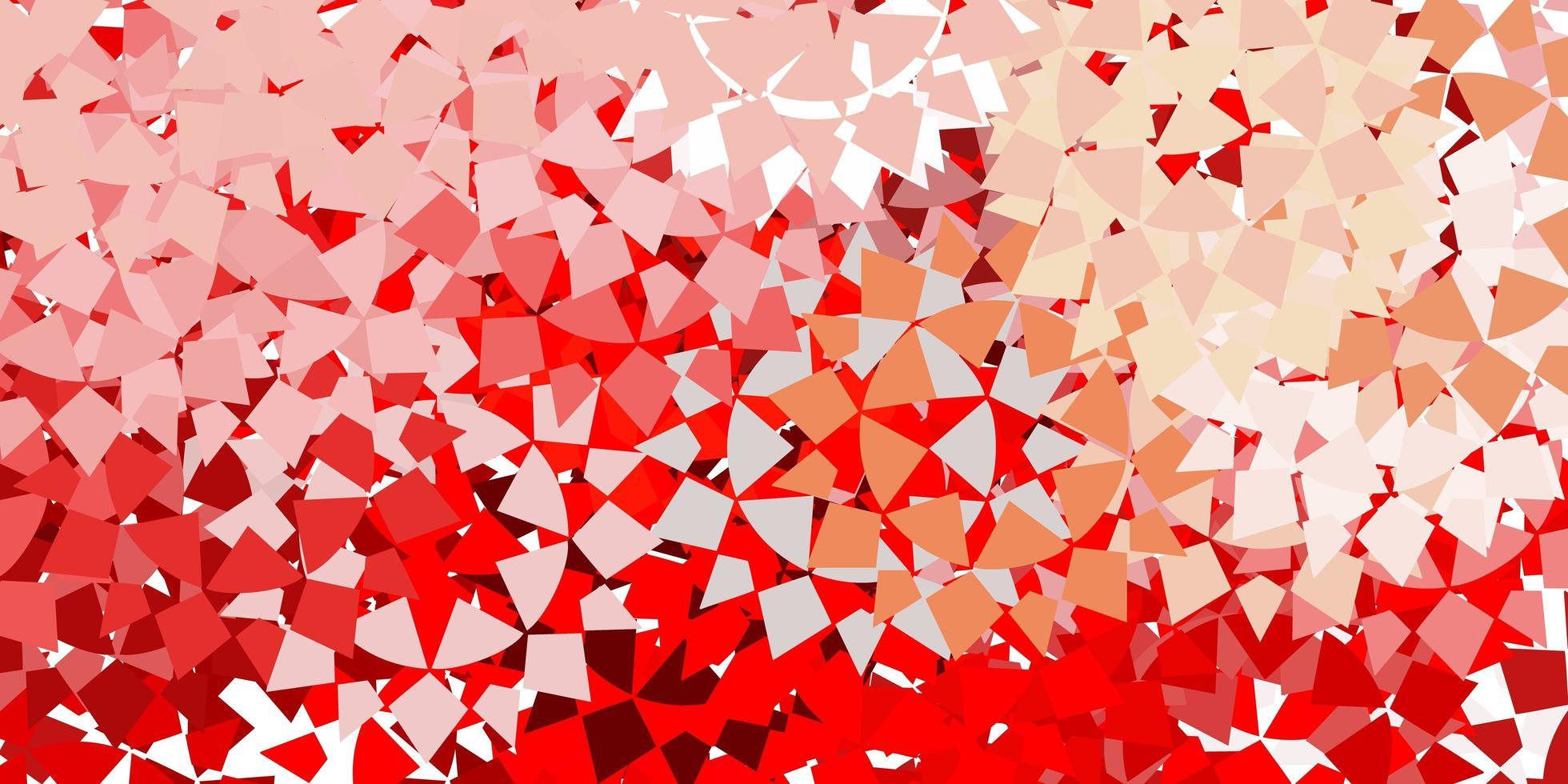 trama rossa con stile triangolare. vettore