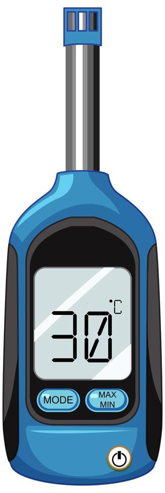 termometro da cucina digitale isolato su sfondo bianco vettore