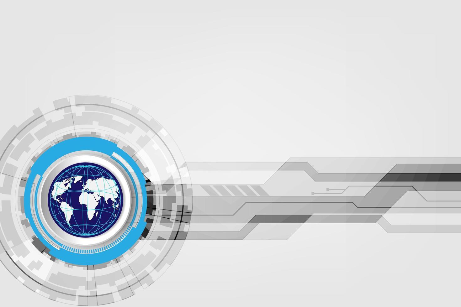concetto di tecnologia globale digitale, sfondo astratto vettore