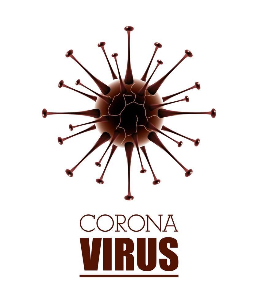 sfondo bianco scientifico banner coronavirus vettore