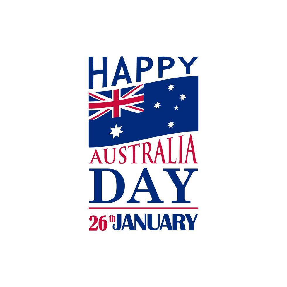 banner festivo di tipografia per il giorno dell'australia. vettore