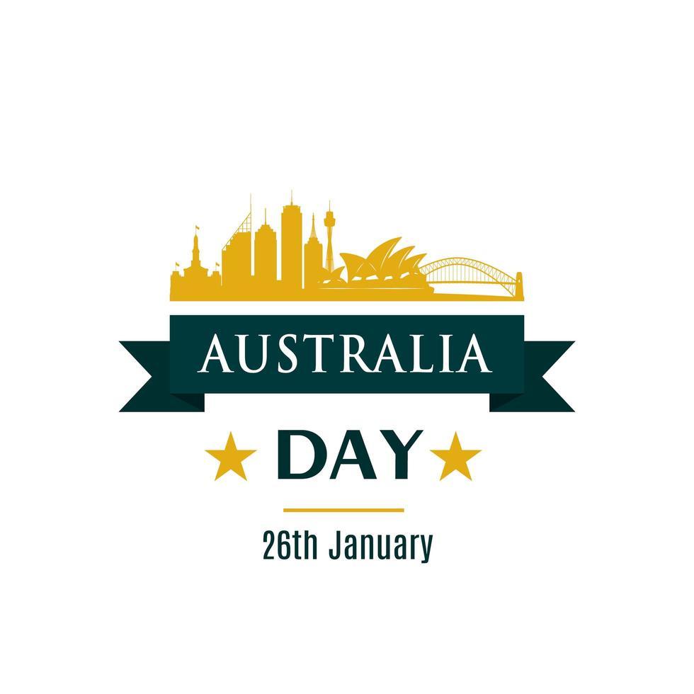 banner di saluto del giorno dell'australia. vettore