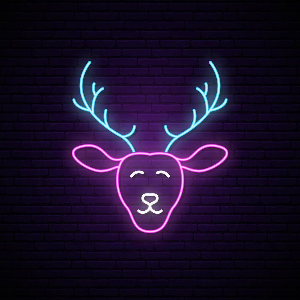 cervo al neon divertente vettore