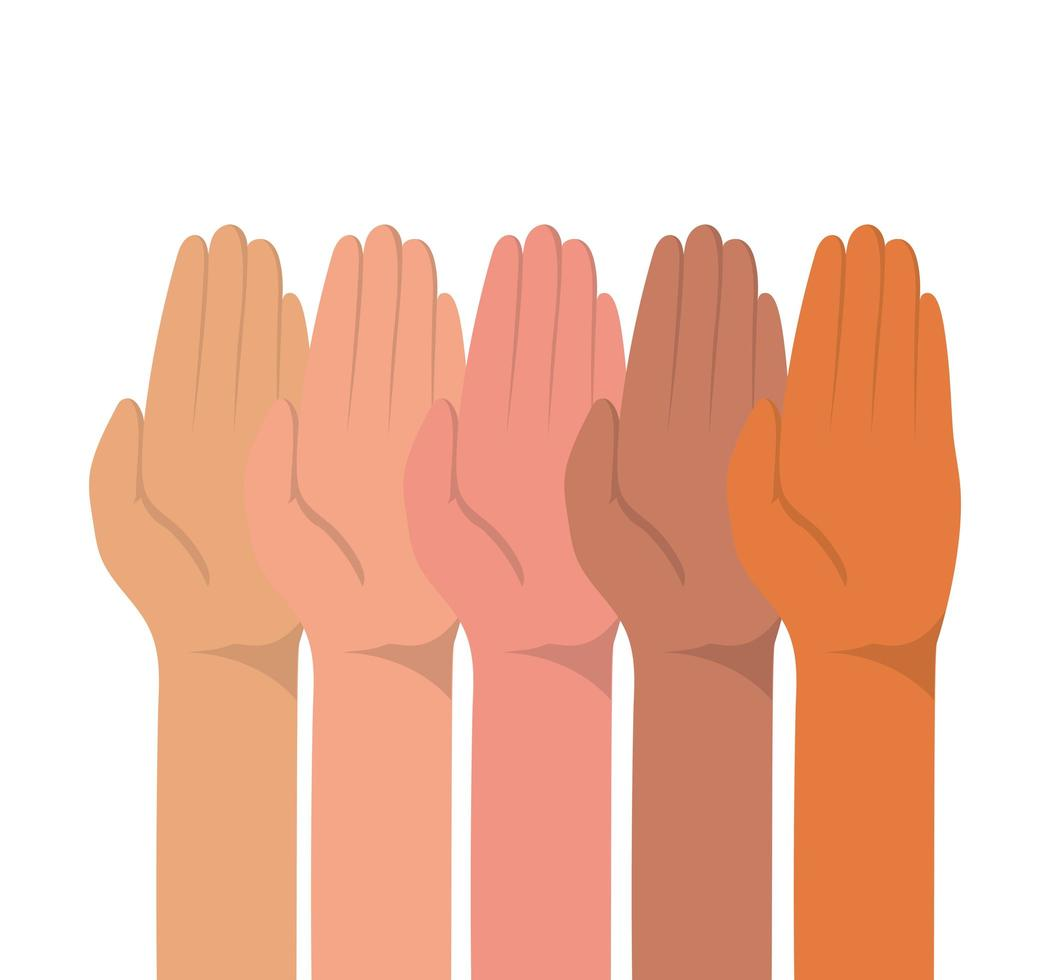 palmo chiuso di diversi tipi di pelli vettore