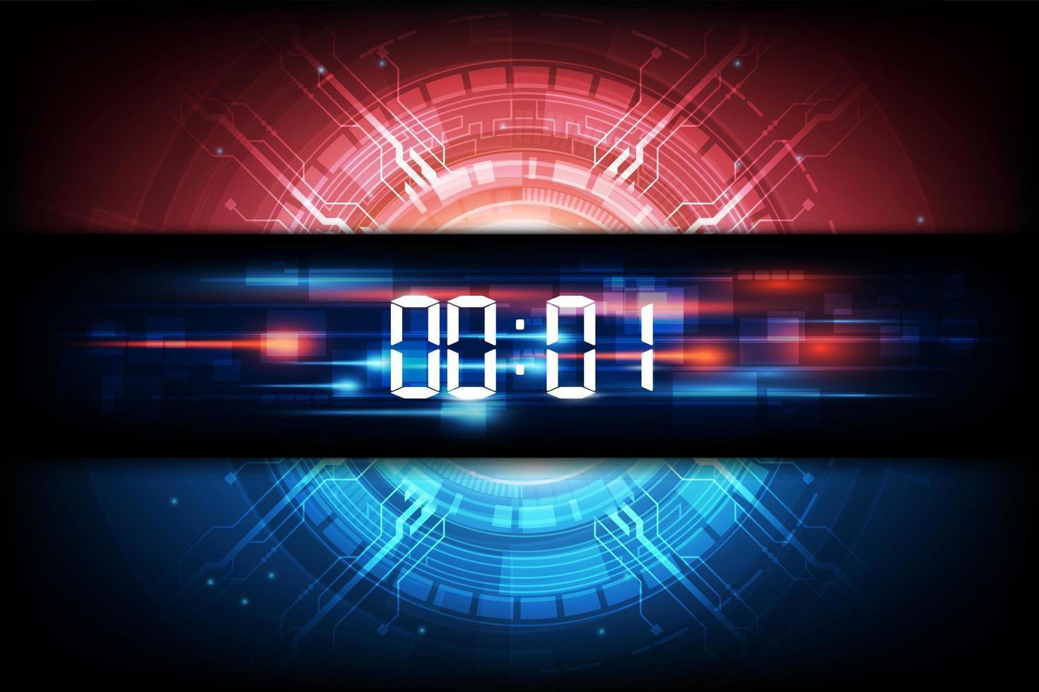 sfondo astratto tecnologia orologio futuristico vettore
