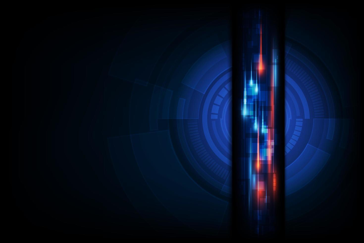 sfondo astratto tecnologia dati vettore
