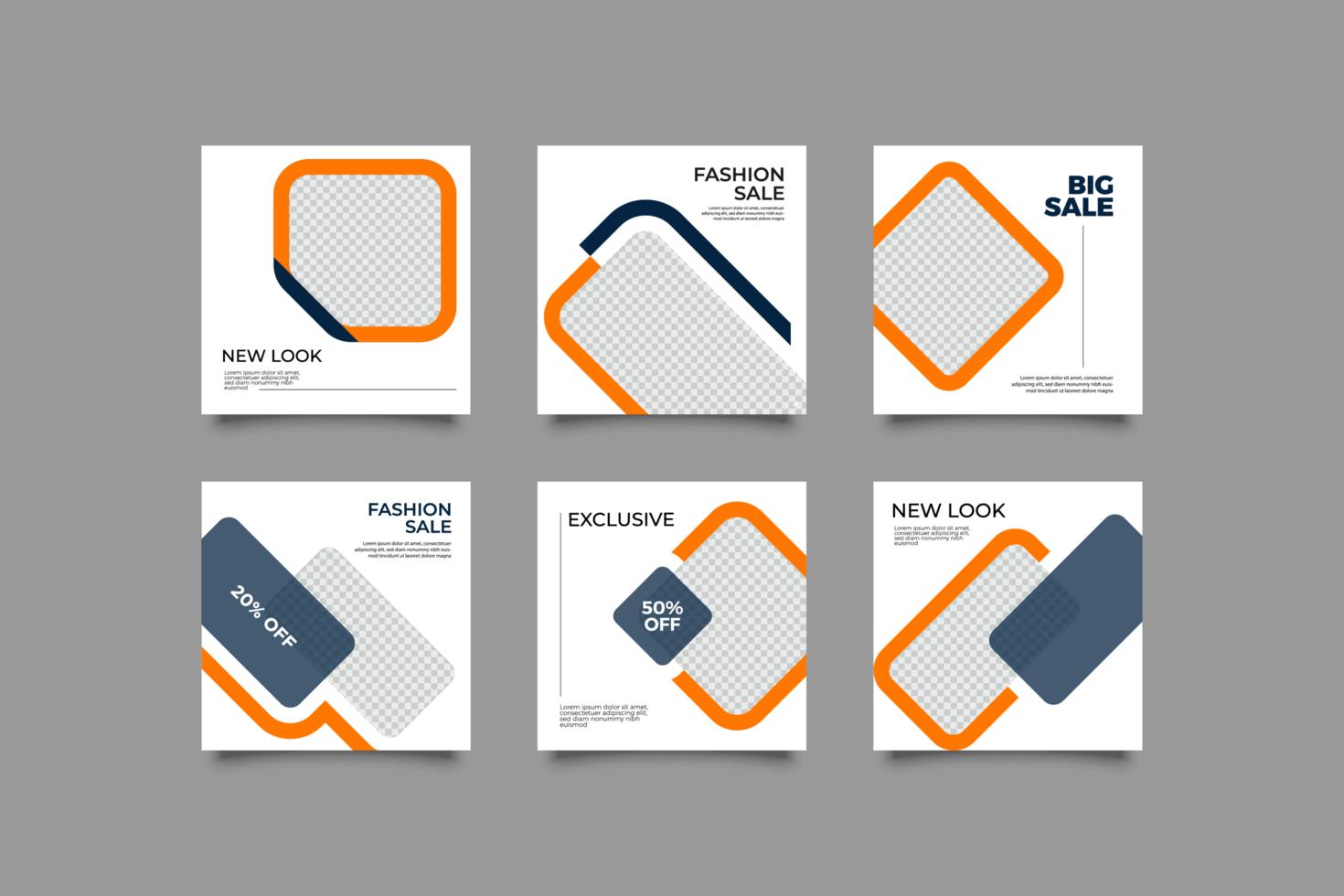 design minimalista dei post sui social media vettore
