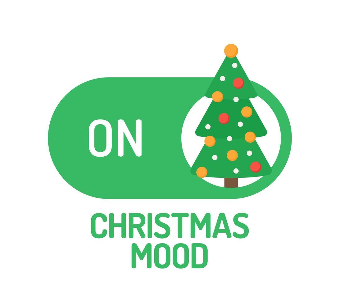 umore natalizio sull'interruttore con albero decorato vettore