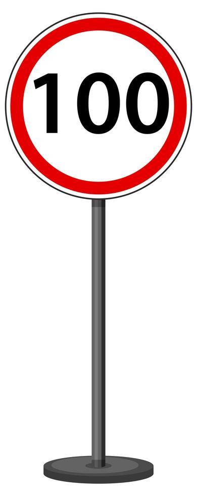 segnale stradale rosso su sfondo bianco vettore