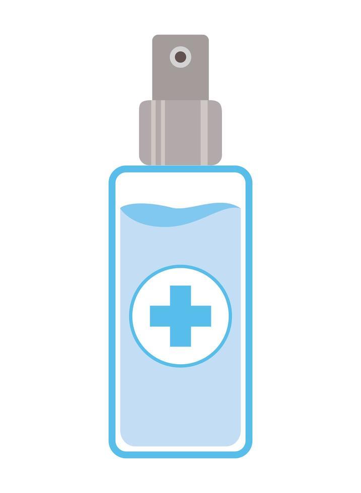 disegno dell'erogatore della bottiglia dello spruzzo di alcool isolato vettore