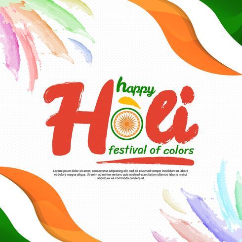 Felice Holi Festival Of Colors Vector Illustration