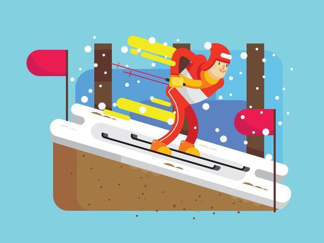 vettore di inverno olimpico coreano