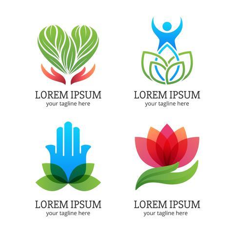 Set di logo di guarigione vettore