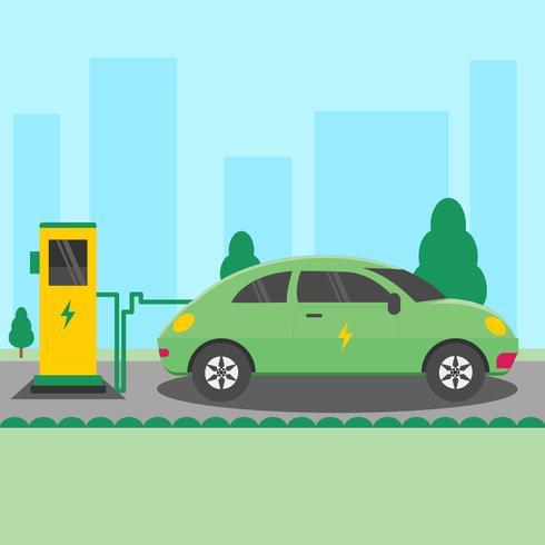 Ricarica per auto elettrica vettore