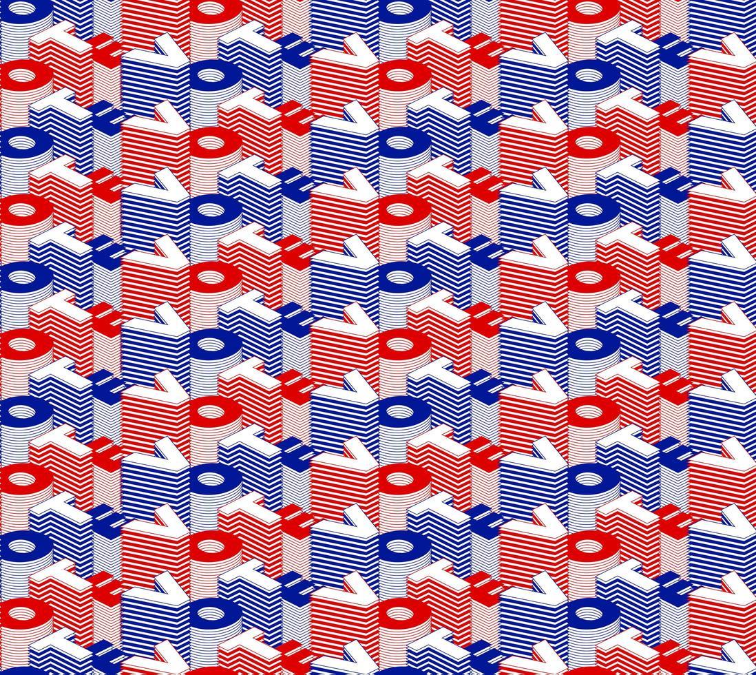 voto senza cuciture. Vector seamless pattern votare testo giorno delle elezioni dibattito negli Stati Uniti del presidente che vota 2020. design banner elettorale, volantino politico vettore errore di battitura giorno delle elezioni elementi simbolici