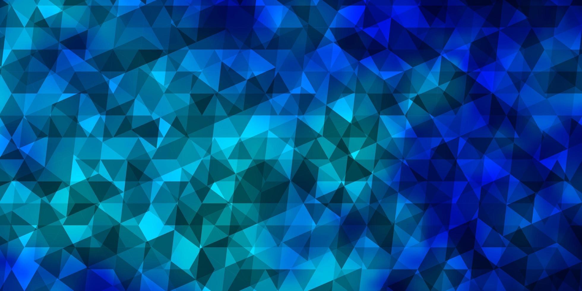 layout vettoriale azzurro con linee, triangoli.