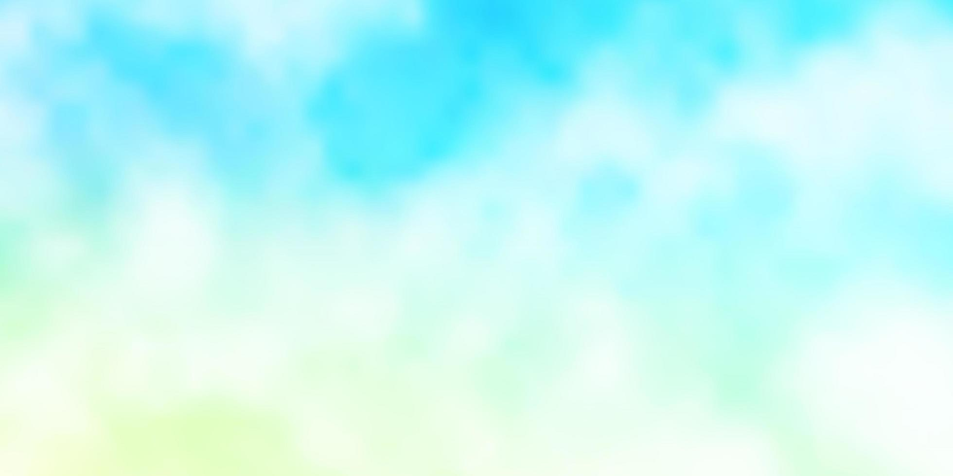layout vettoriale azzurro, verde con annuvolato.