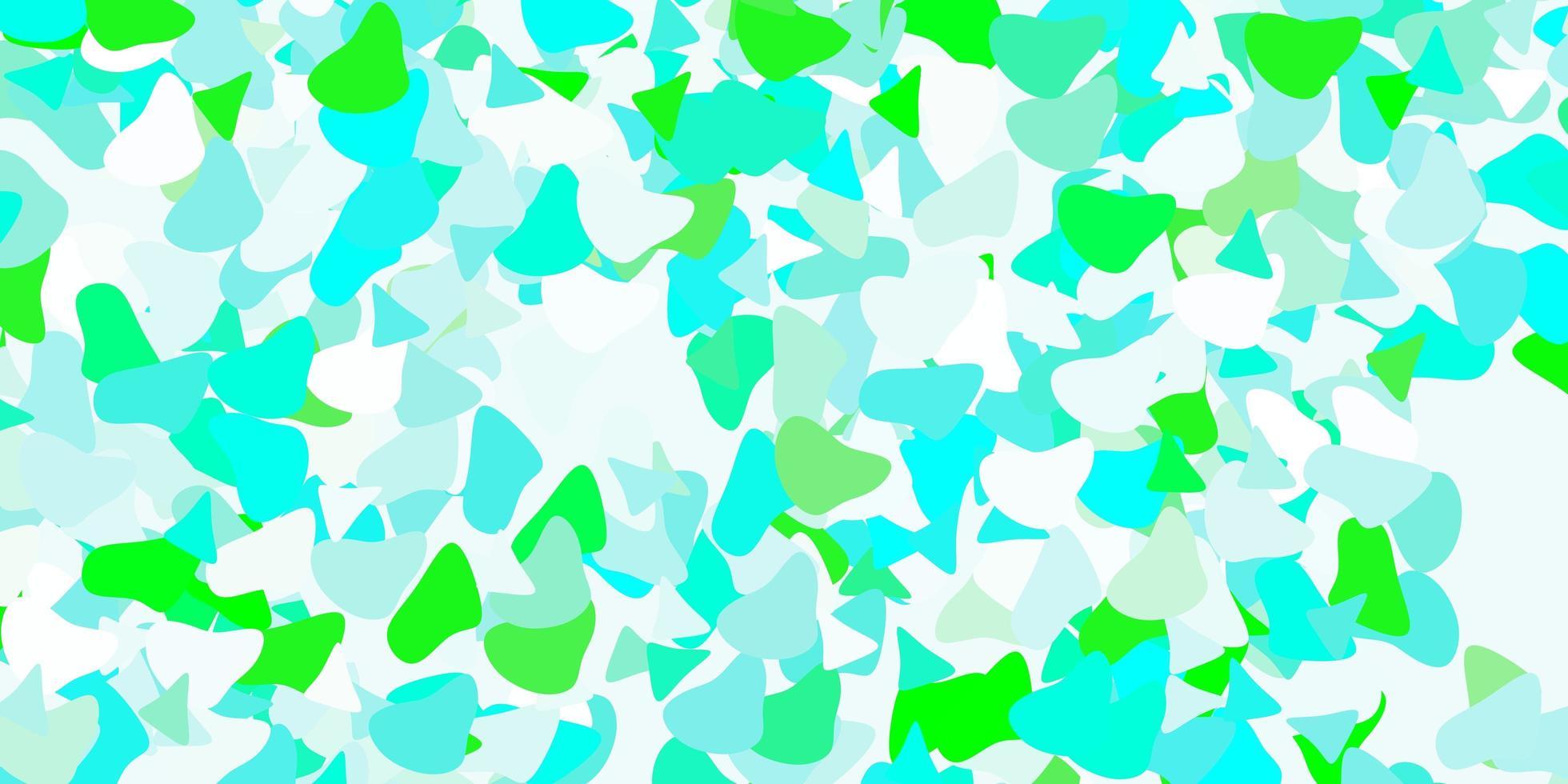 sfondo vettoriale verde chiaro con forme caotiche.