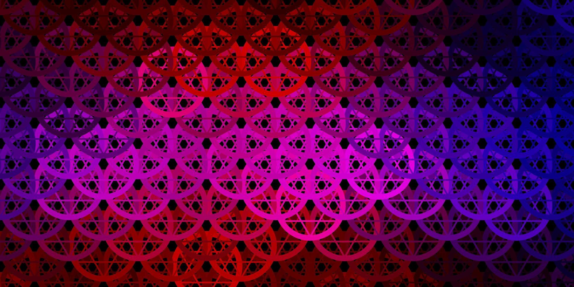 modello vettoriale blu scuro, rosso con elementi magici.