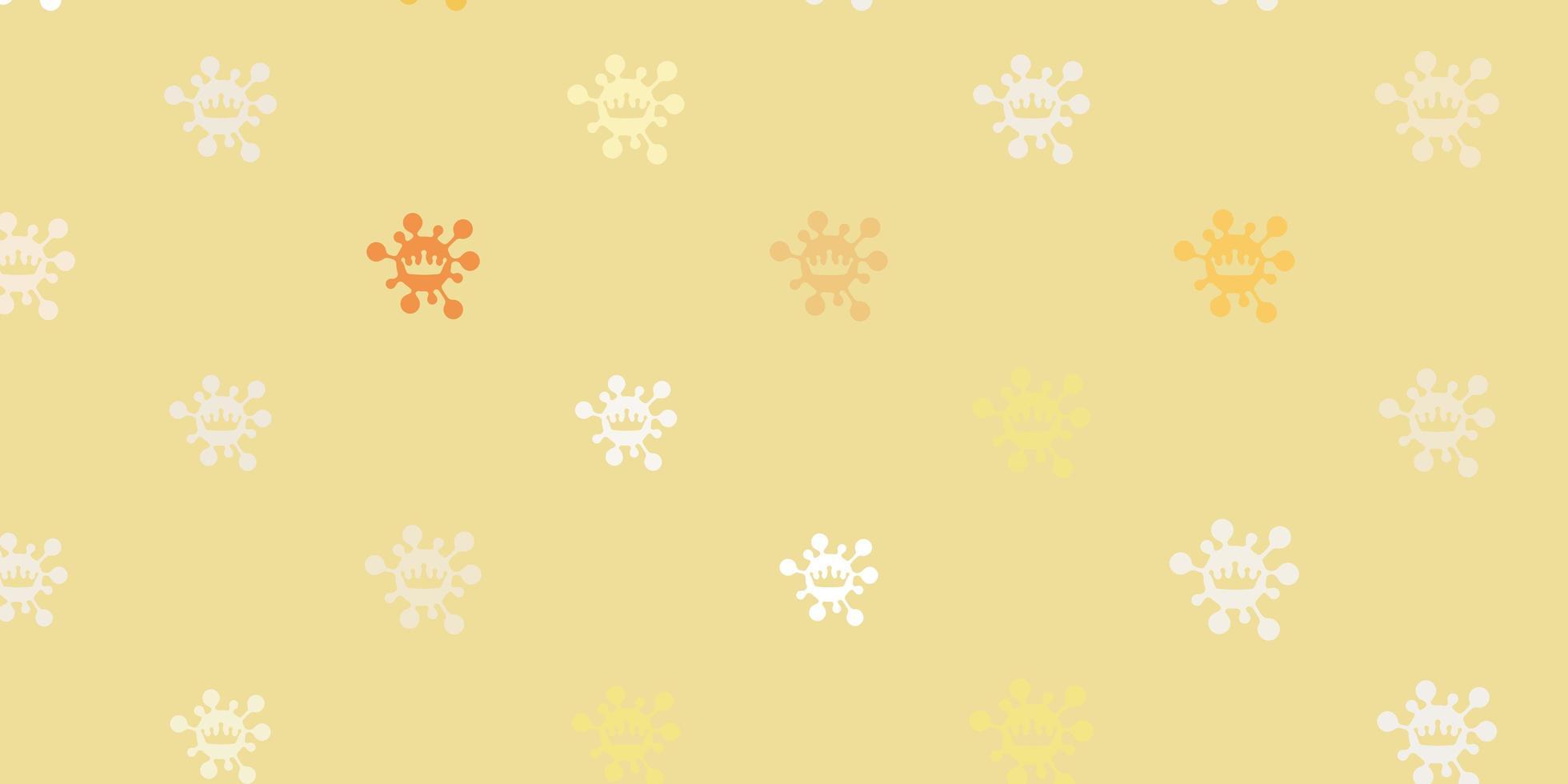 modello vettoriale arancione chiaro con segni di influenza.