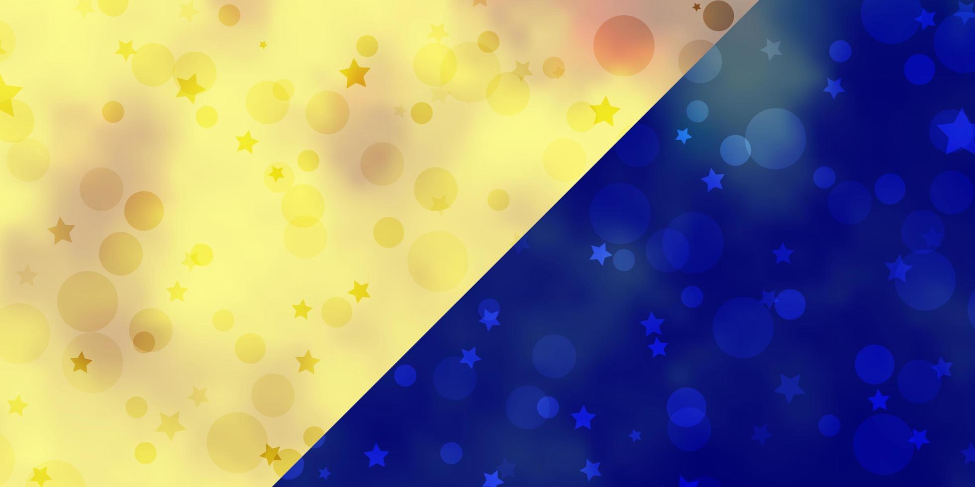 sfondo vettoriale con cerchi, stelle.