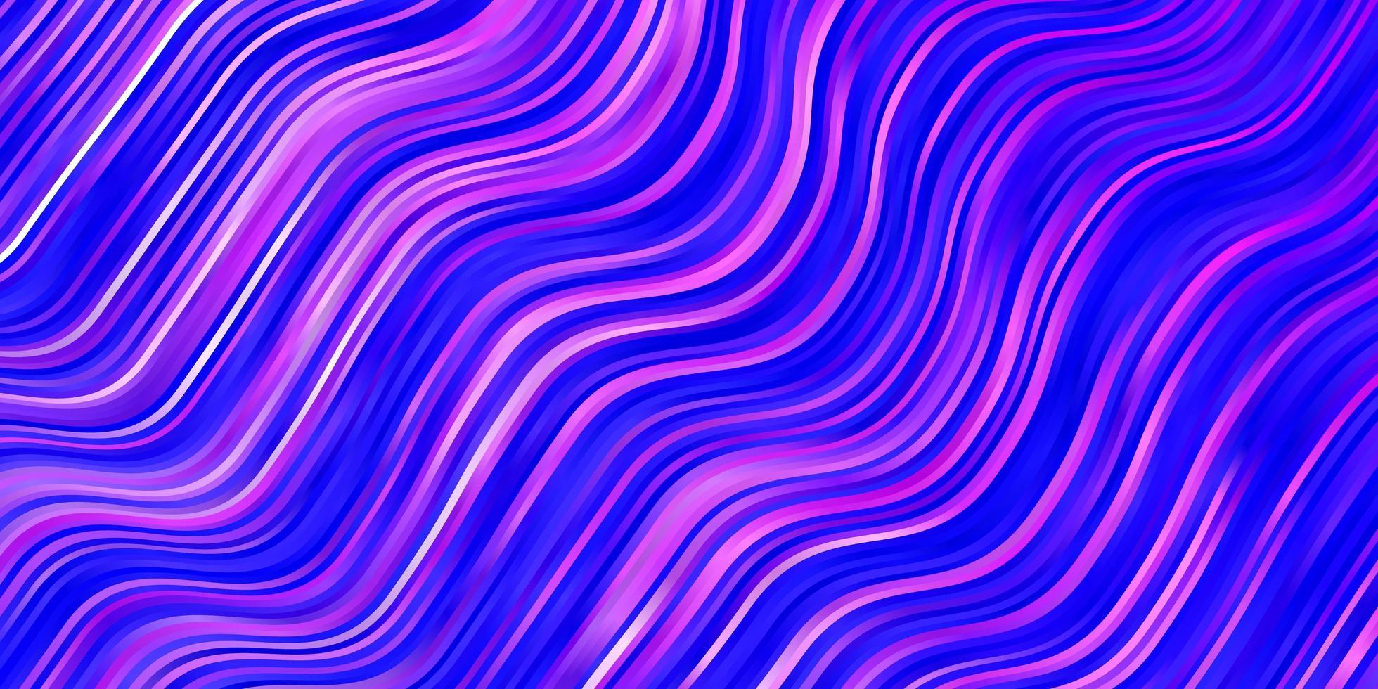 modello vettoriale rosa chiaro, blu con linee curve.