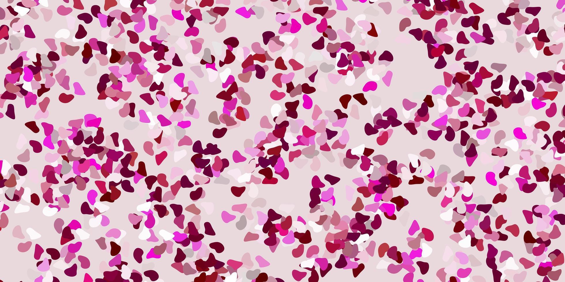 sfondo vettoriale rosa chiaro con forme casuali.