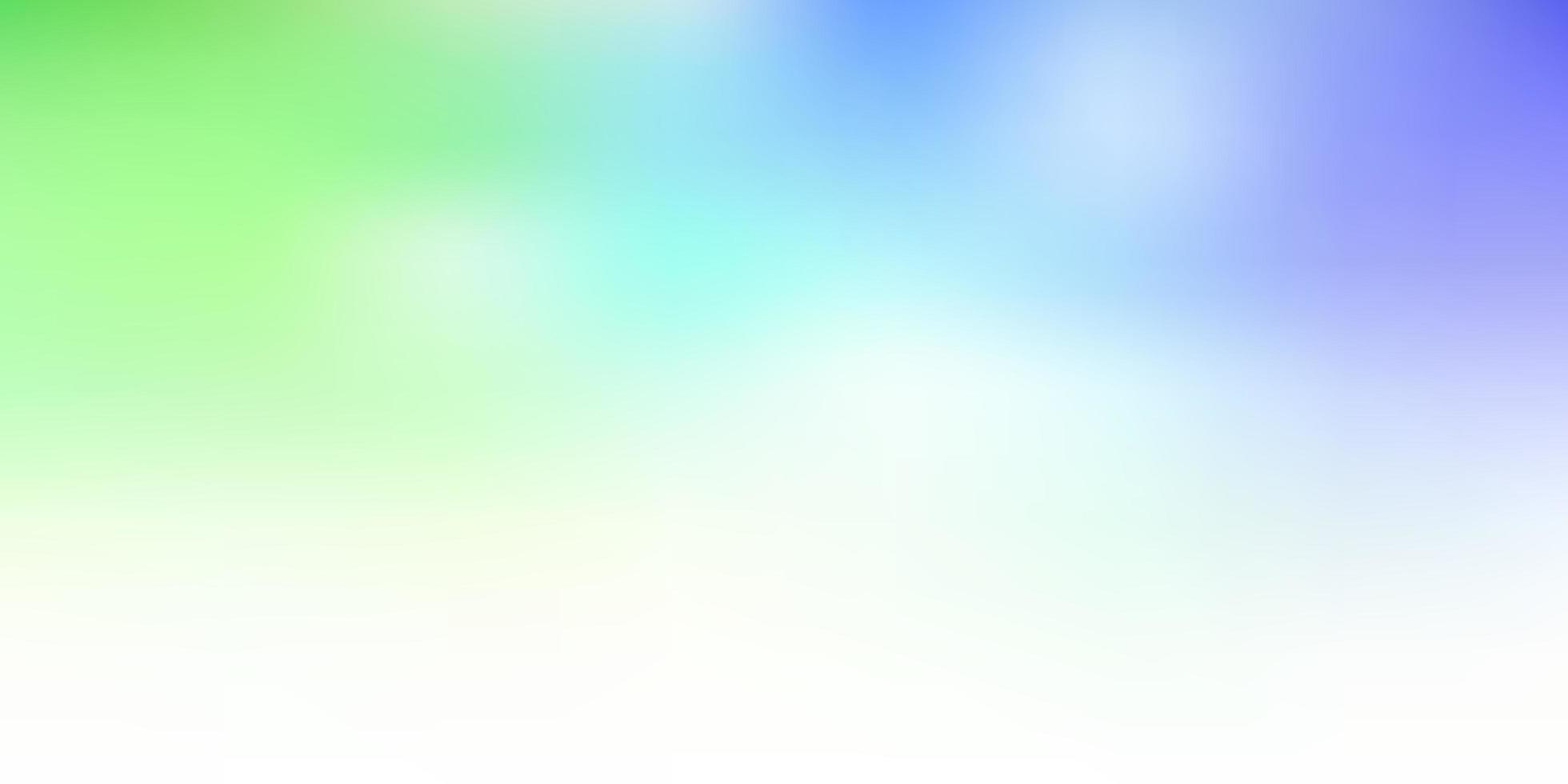 disegno astratto sfocatura vettoriale blu chiaro, verde.