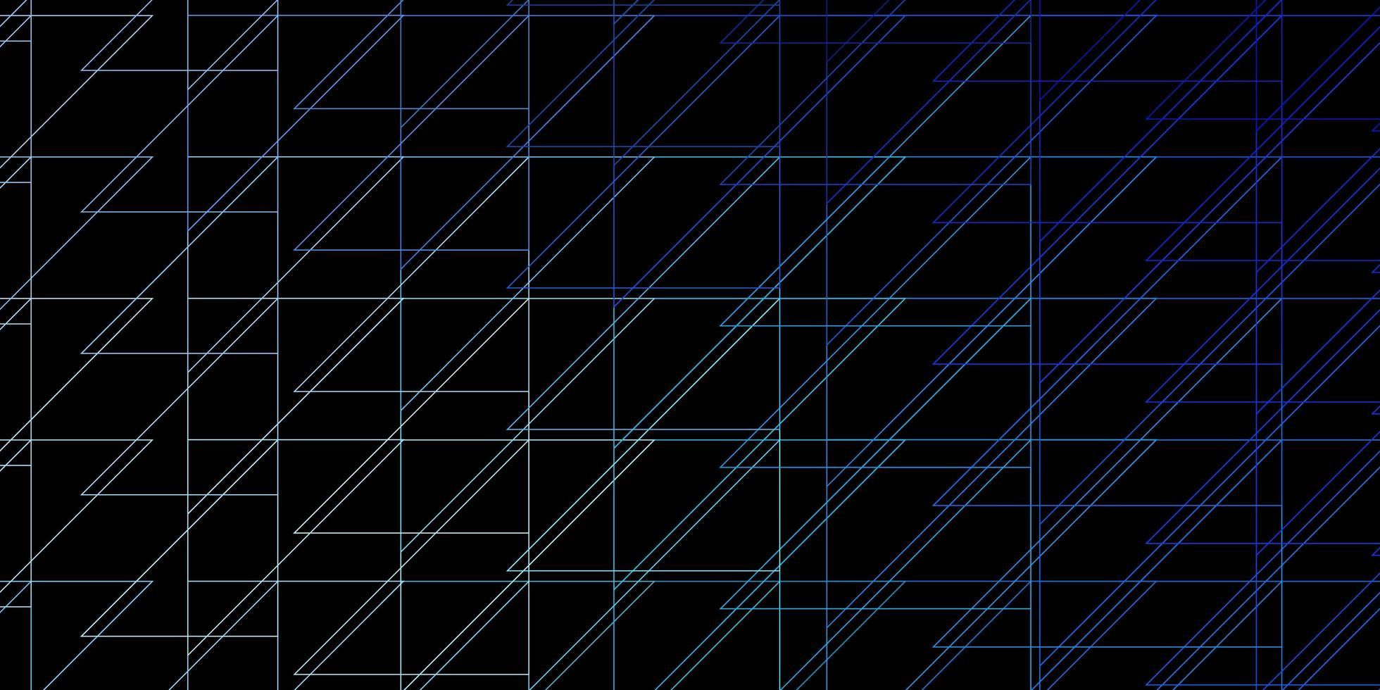 sfondo vettoriale blu scuro, verde con linee.