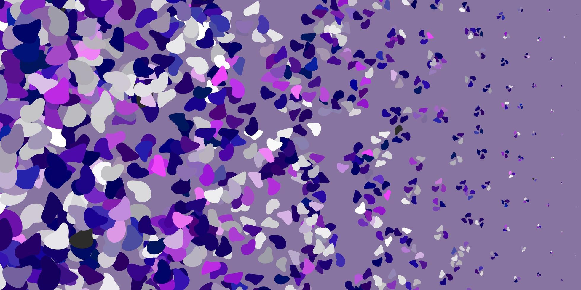 texture vettoriale viola chiaro con forme di memphis.