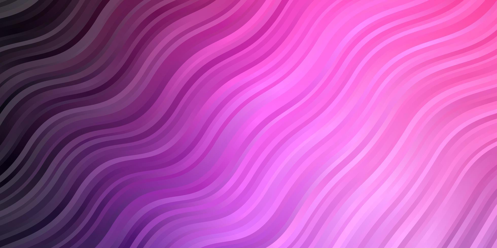 sfondo vettoriale viola chiaro con curve.