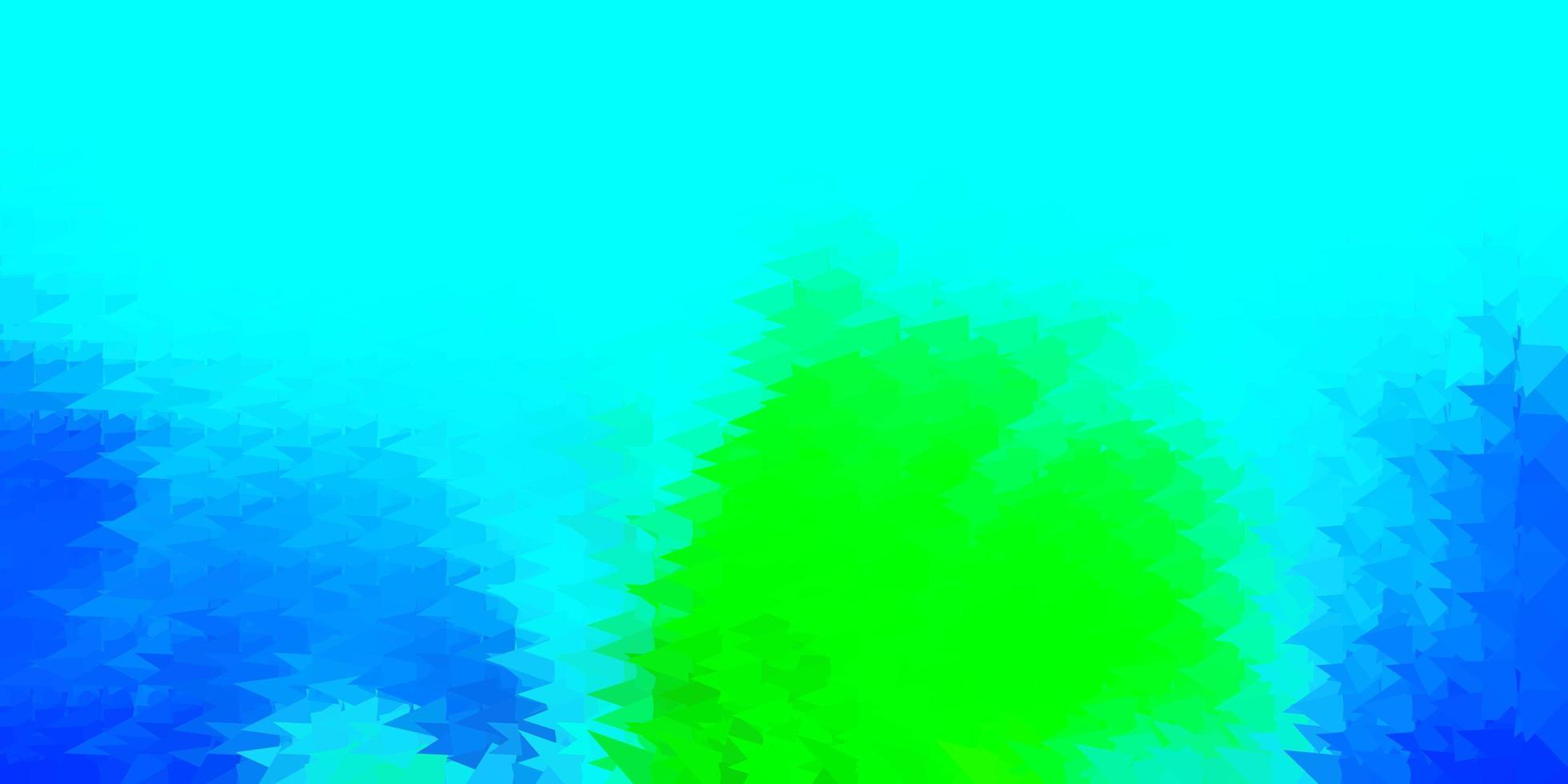 modello poligonale vettoriale azzurro, verde.