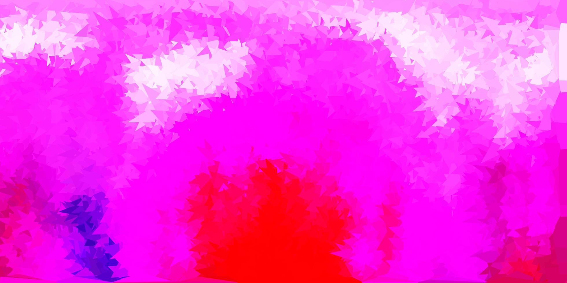 disegno poligonale geometrico di vettore viola chiaro, rosa.