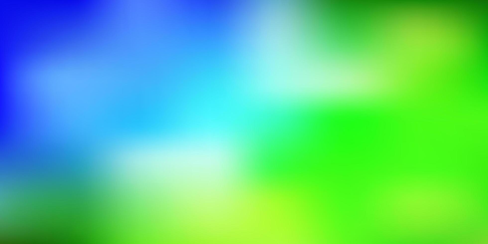 layout di sfocatura vettoriale azzurro, verde.