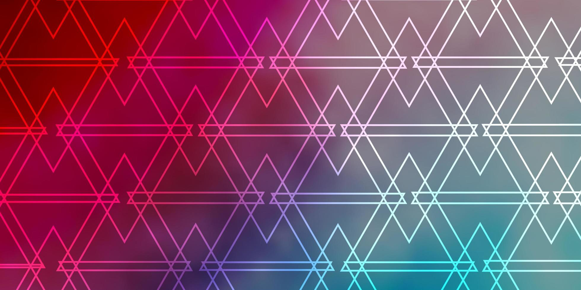 modello vettoriale azzurro, rosso con linee, triangoli.