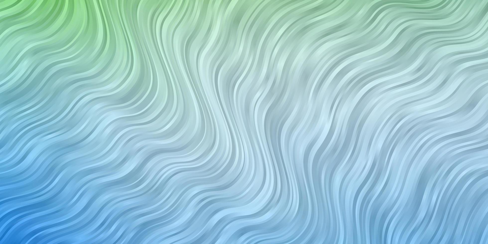 modello vettoriale blu chiaro, verde con curve.
