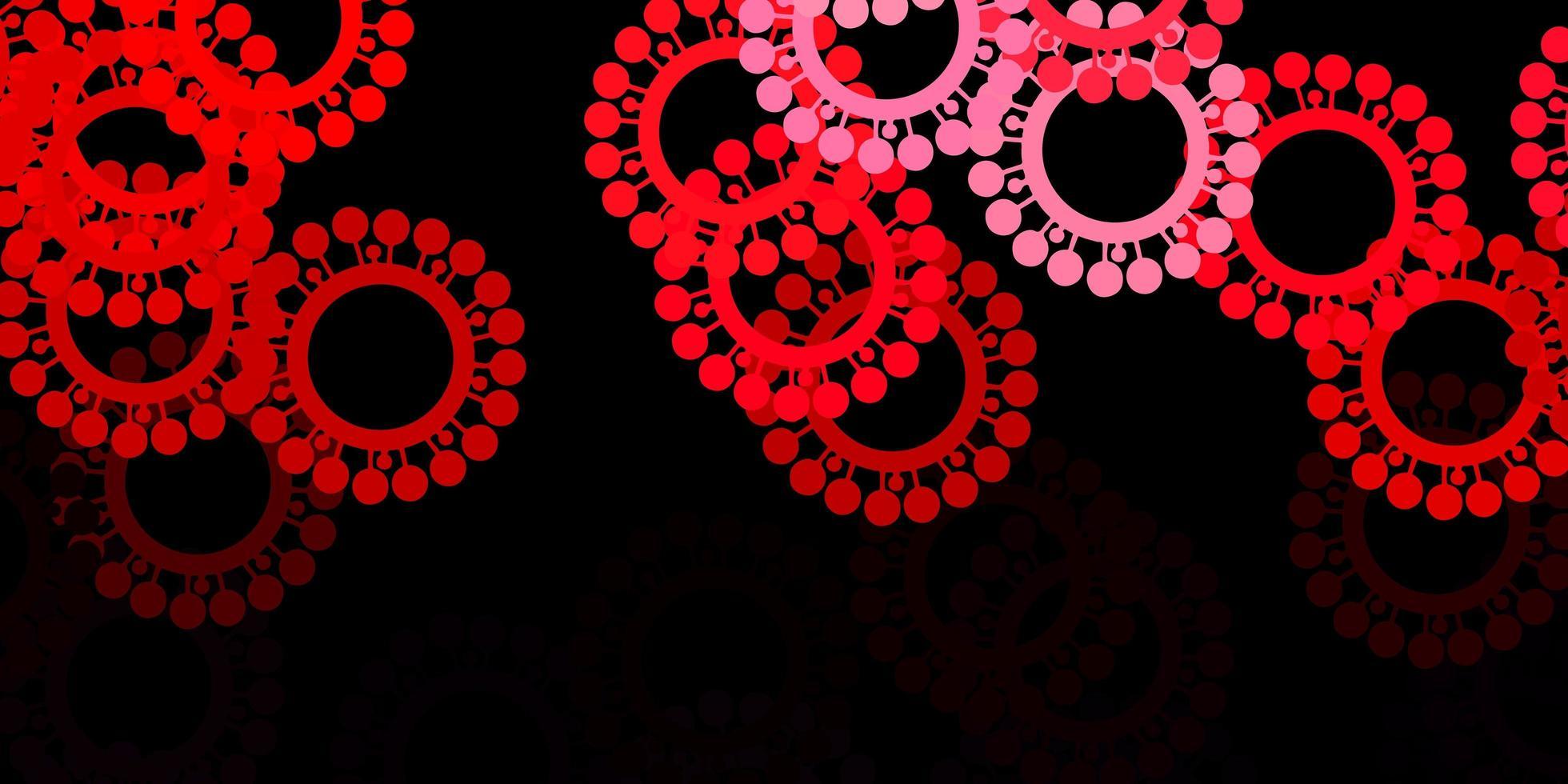 modello vettoriale rosa scuro, rosso con segni di influenza.
