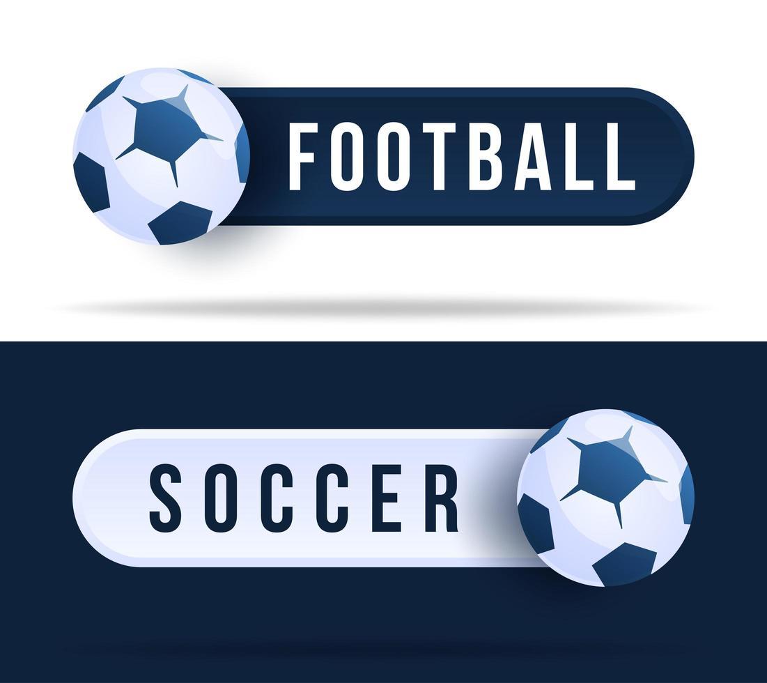 pulsanti di commutazione di calcio o calcio. vettore
