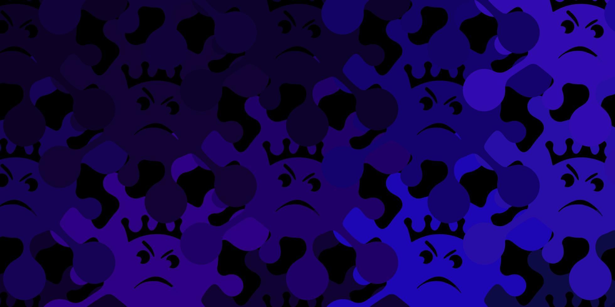trama vettoriale viola scuro con simboli di malattia.