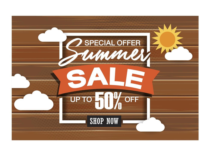 modello di banner di vendita eccellente estate su sfondo di colore. vettore