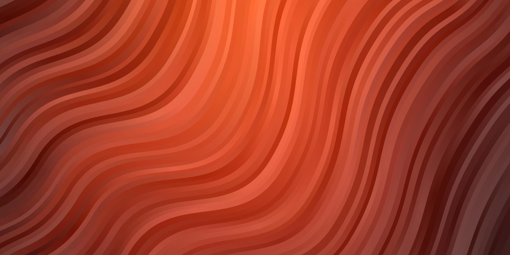 modello vettoriale rosso chiaro con linee curve.
